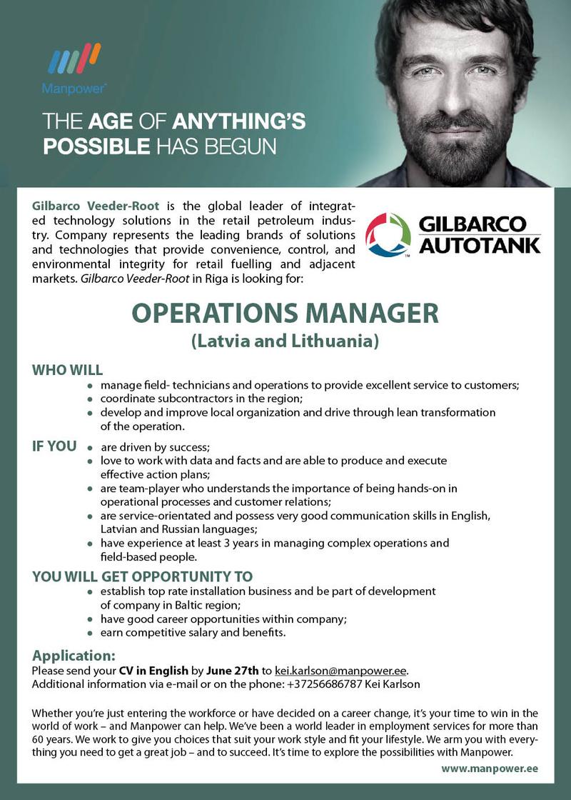 Operations Manager cv Operations Manager cv