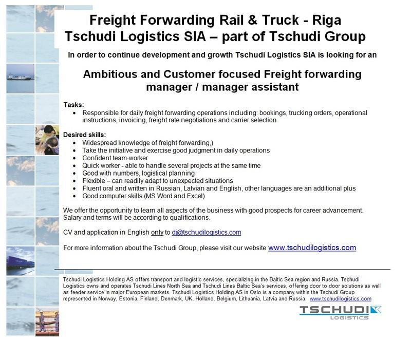 Darba Piedāvājumi Darbs Cv Market Vakance Freight