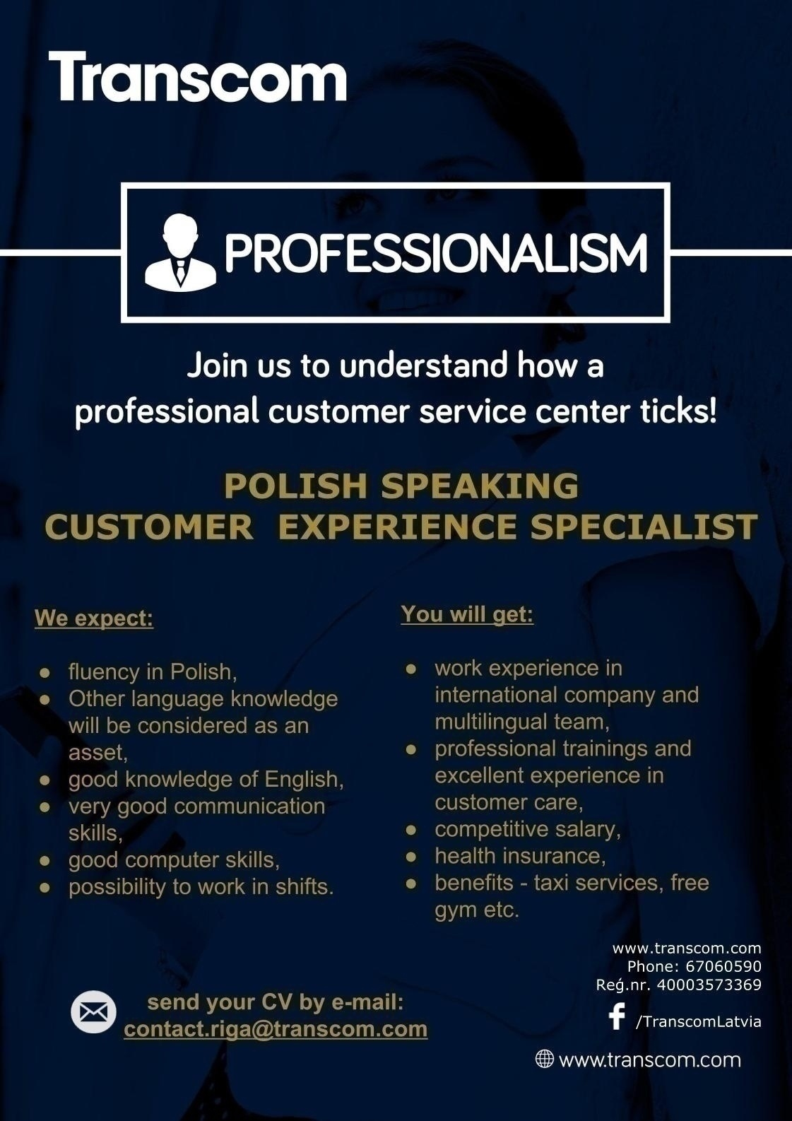 CV MARKET klients Polish Speaking Customer Specialist