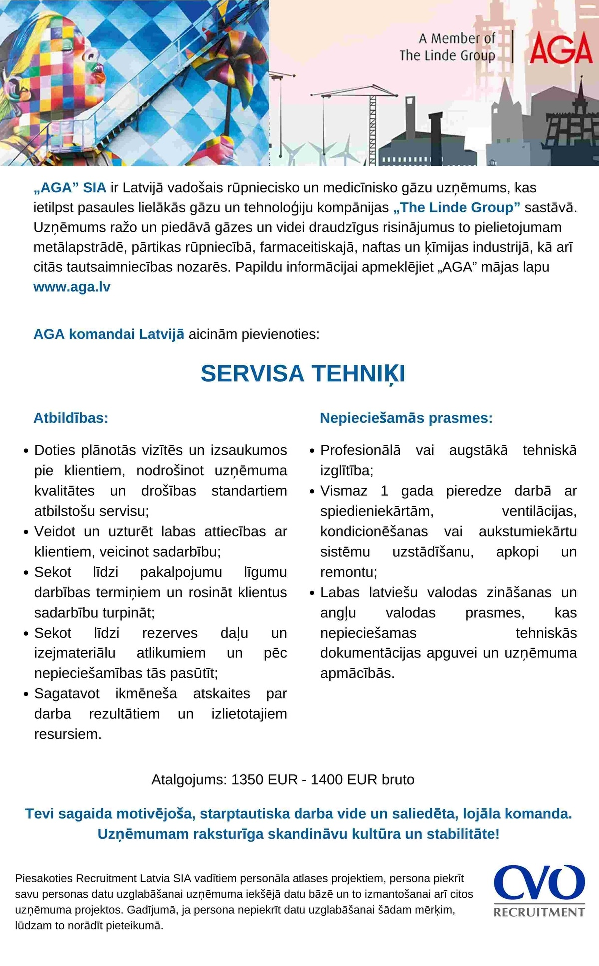 Recruitment Latvia, SIA Servisa tehniķis/-e