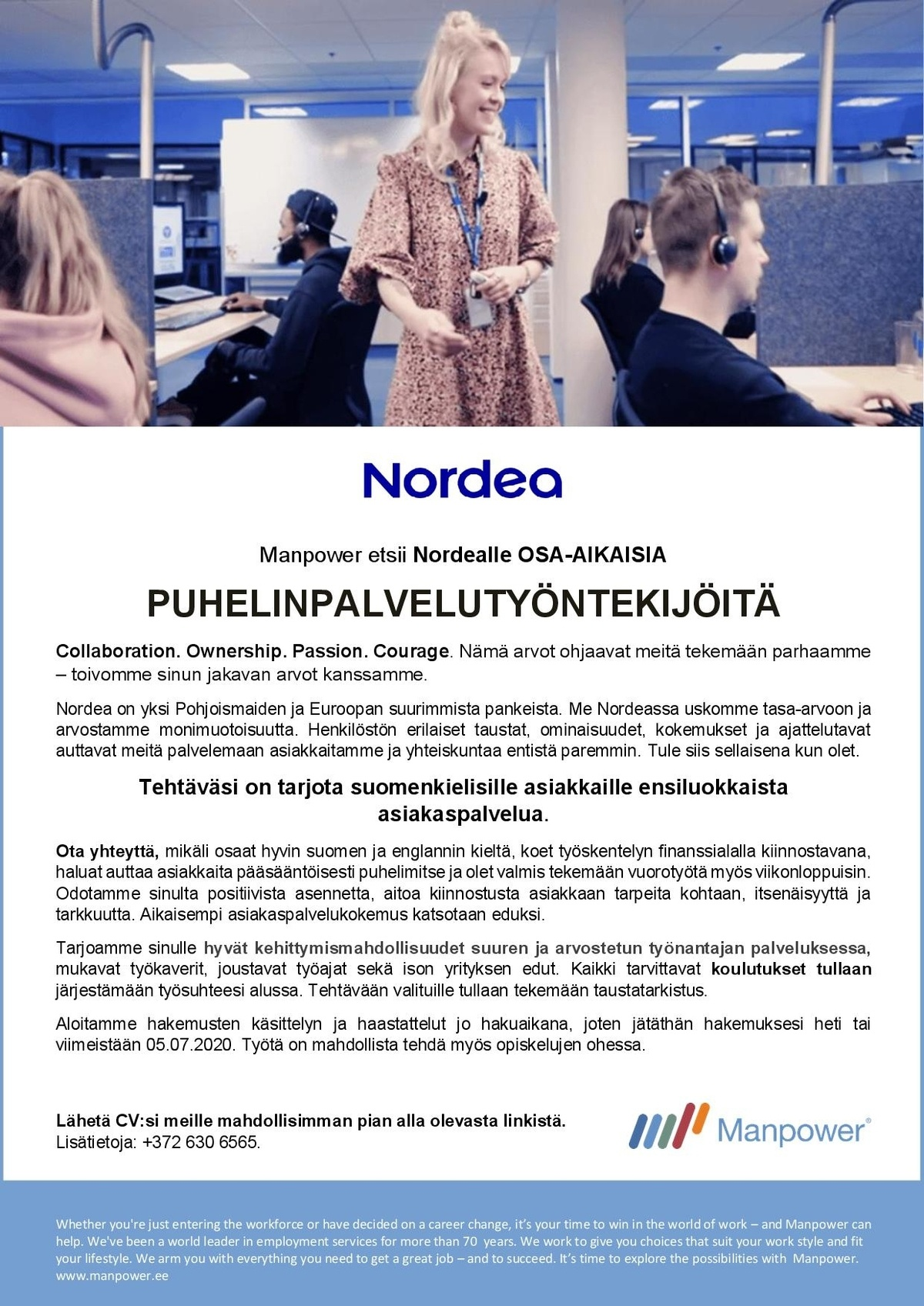 Manpower Estonia Call Centre Representatives